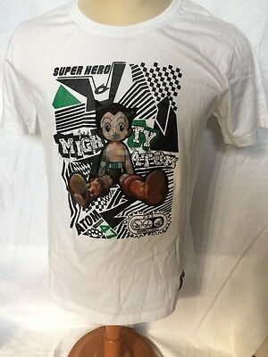 Mighty Atom Super Hero Astro Boy Anime White T shirt Hologram Men's XL