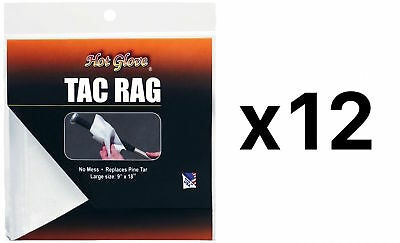 Unique Sports Tac Rag Baseball Softball  Bat Grip No Mess Non Toxic (12-Pack)