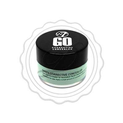 W7 Go Corrective Concealer - Green - Corrector Anti Redness Makeup Blemish