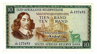 South Africa ... P-113c ... 10 Rand ... ND(1975) ... *VF*