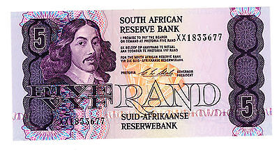 South africa … P-119e … 5 Rand … ND(1990-94) … *UNC* ... Replacement XX