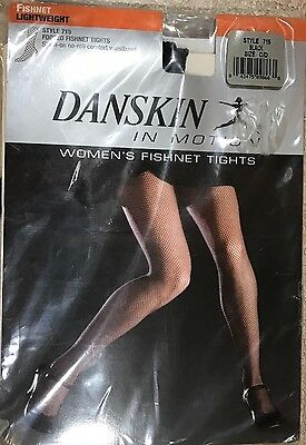 Womens Danskin Fishnet Tights Style 715 Black A/B C/D Lightweight Footed New