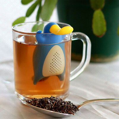 Cute Platypus Silicone Diffuser Infuser Tea Leaf Strainer Herbal Spice Filter