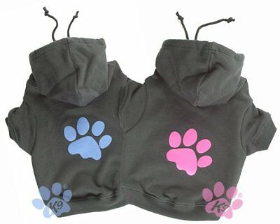 K9 Paw Print Hoodie Pet Dog and Puppy T-shirt top Vest Warm Clothes