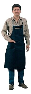 "TILLMAN 6236BD BLUE COTTON SHOP APRON - 24"" x 38"""