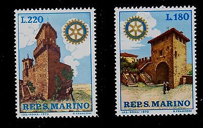 San Marino   Scott# 731-732    Mnh    Rotary International