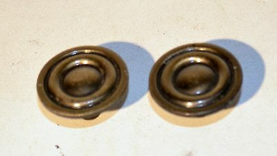 "Vintage Brass Plated Knob Drawer Cabinet Cupboard Handle Round 1"" 1/4"