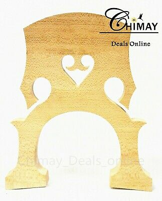 Double Bass Bridge, Maple, French Style, 3/4 Size, Us Seller