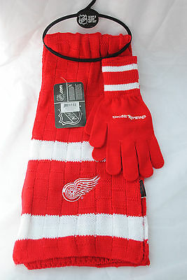 Detroit Red Wings Scarf and Glove Gift Set
