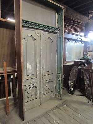 Victorian Double Door Entrance Set w/ Jamb and Transom