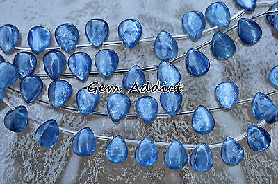 30 Blue Kyanite Teardrops/Pear Beads 8x10mm 22g/110cts