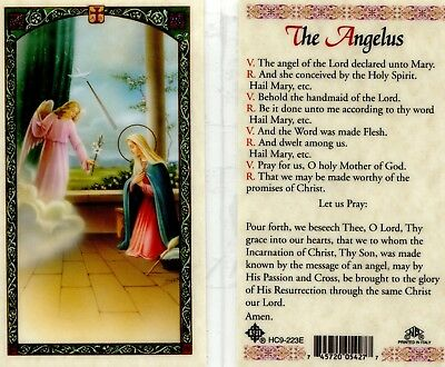 The Angelus Prayer Card The Angel of The Lord Catholic Holy Cards HC9-223E