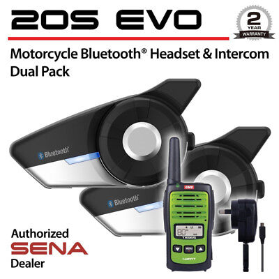 Sena 20S Motorcycle Bluetooth Communication System 2 Headsets Dual Pack 20S-01D