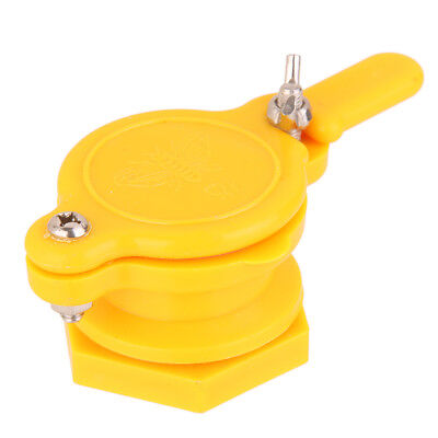 38mm Functional Yellow Plastic Hive Honey Gate Valve Beekeeping Tool Equip