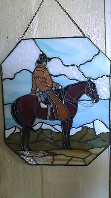 Beautiful Hand Crafted Horse Stain Glass   15 x 18