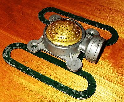 BEAUTIFUL RARE Vintage Brass & Cast Square-Save Water Sprinkler Antique Collecti