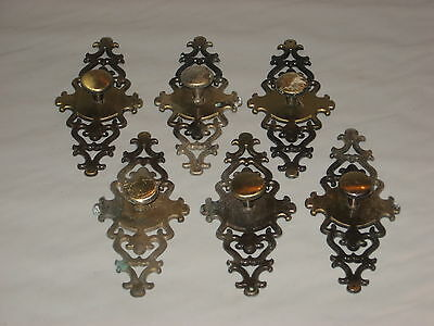 Escutcheons Vintage Cabinet Handles Lot of 6 from 1967