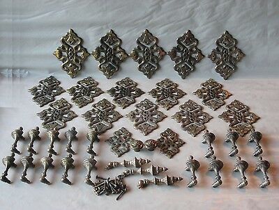 Escutcheons Vintage for Cabinets or Drawers 39 Pcs Lot