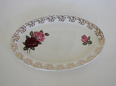 Vintage Oval Cake Sandwich Plate Roses Lord Nelson England