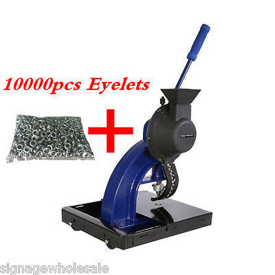 Semi-automatic Hand Pressing Grommet Machine for Fabric with 10000pcs 4# Eyelets