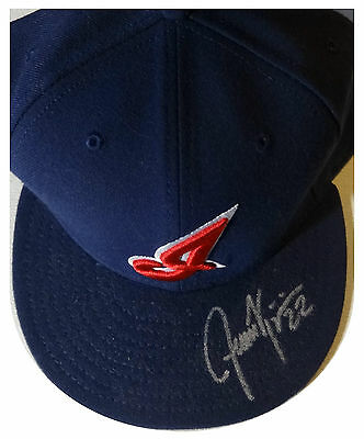 Signed Indians Jason Kipnis Autographed Game Hat W/pic