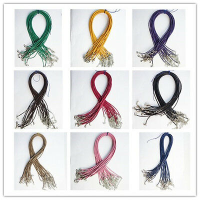 2mm Real Genuine Leather Necklace Cord 18 inch 10Pcs Or 20Pcs Or 50Pcs U351