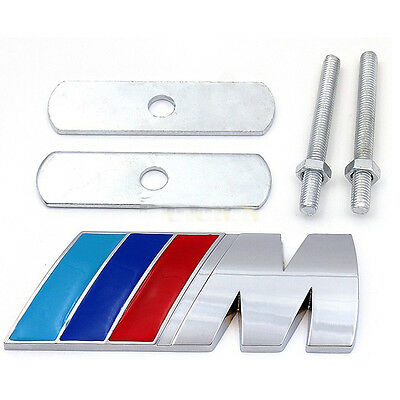 NEW 2016 3D front M Badge Emblem M series Metal Logo for BMW Grill emblem