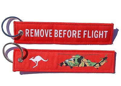 Army ARH Tiger Remove Before Flight Key Ring Luggage Tag
