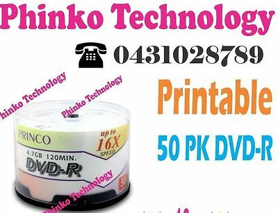 * New 50 PRINCO Blank DVD-R 16X Hub Printable in a SPINDLE
