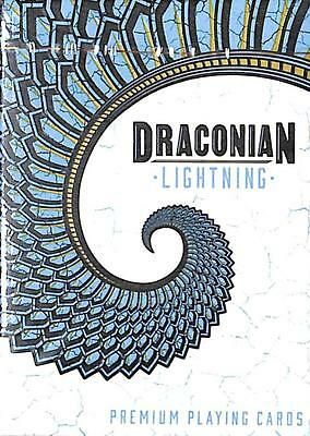 Draconian Lightning (Blue) Premium Playing Cards, 1 Deck