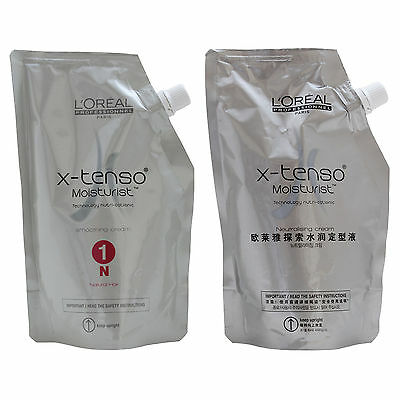 L'Oreal X-tenso Hair Straightener Cream Set for Natural Hair Perms 800ml NEW