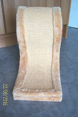 Trixie Cat Kitten Sisal Wave Scratching Post Plush Cream Base & Edges Never Used