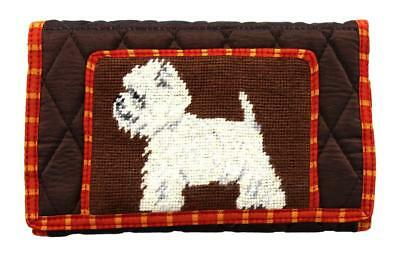 Bulldog Puppy Dog Large Handmade Wallet by Union Trading Company with Strap