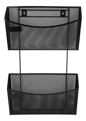 Quill Black Mesh Hanging File, Standard and Cubicle Wall Mount