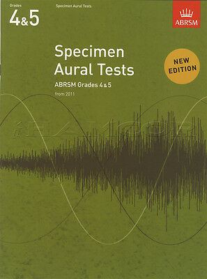 Specimen Aural Tests from 2011 Grades 4-5 ABRSM Sheet Music Book Classical