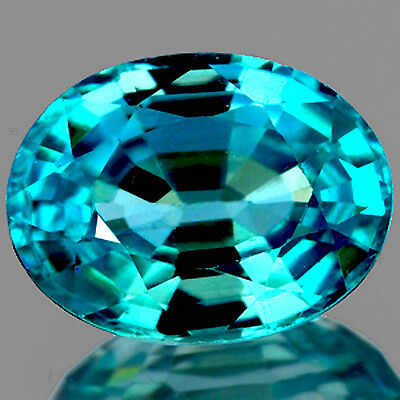 [IF]~2.0CT OVAL 8x6MM AAA++ LUSTER EXCELLENT COLOR BLUE ZIRCON NATURAL GEMSTONE