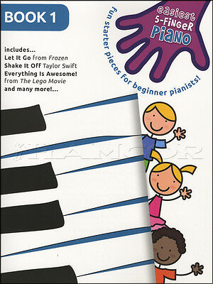 Easiest 5-Finger Piano Volume 1 Sheet Music Book Frozen Taylor Swift Lego Movie