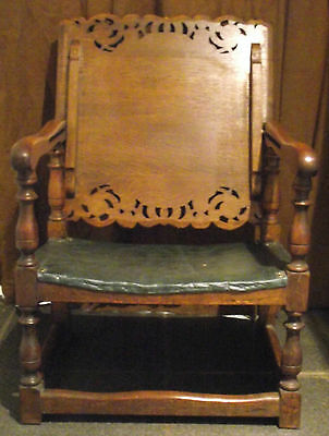 1930's Art Deco Oak Monks Bench / Hall Seat