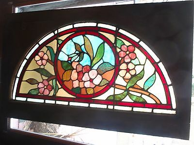 Victorian floral stained glass window