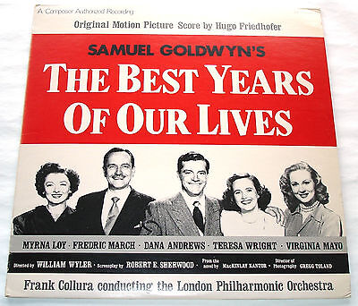 Hugo Friedhofer THE BEST YEARS OF OUR LIVES LP with Booklet and Promo Single
