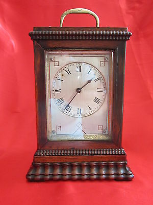 19th century rosewood carriage / mantel clock