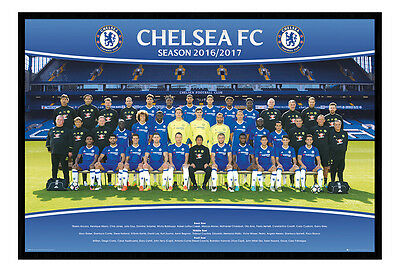 Framed Chelsea FC Team Squad 2016 - 2017 Poster New