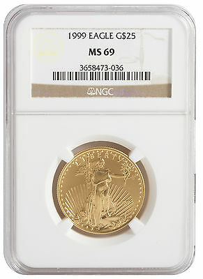 $50 1oz Gold American Eagle MS69 NGC (Random Date)