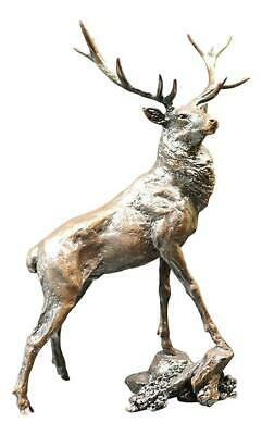 """""""Regal Stag"""" Solid Bronze Sculpture by Richard Cooper shooting Stalking Gift 842"""