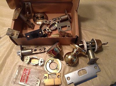 Vintage Mixed  Lot Door Locks, Cylinders, Keys  Steampunk Wall Art Industrial