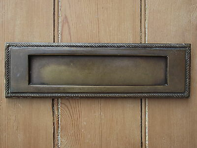 Reclaimed Brass Letter Box letterplate flap door mail slot post box post letters