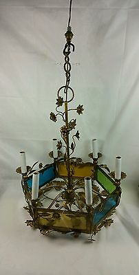 made in italy gilded floral design chandelier
