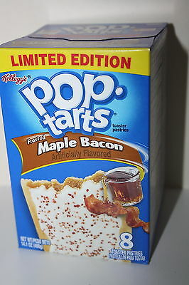 USA Kellogg's Pop Tarts Frosted MAPLE BACON (8 toaster pastries)