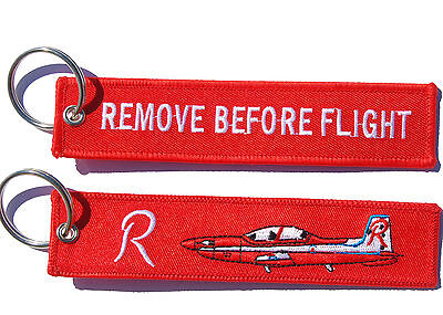 RAAF Roulettes PC-9 Remove Before Flight Key Ring Luggage Tag