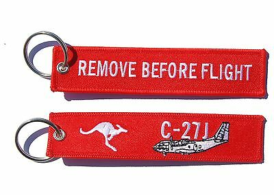 RAAF C27 Spartan Remove Before Flight Key Tag Luggage Tag Key Ring